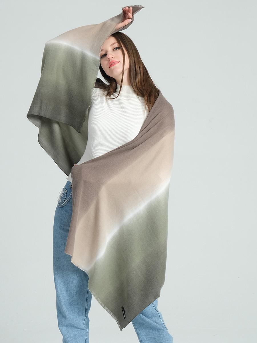 Women Scarf Patchwork Winter Cashmere Scarves Lady Shawls Bandana Neck Warm Knit Triangle Bandage Foulard Echarpe/SF1333