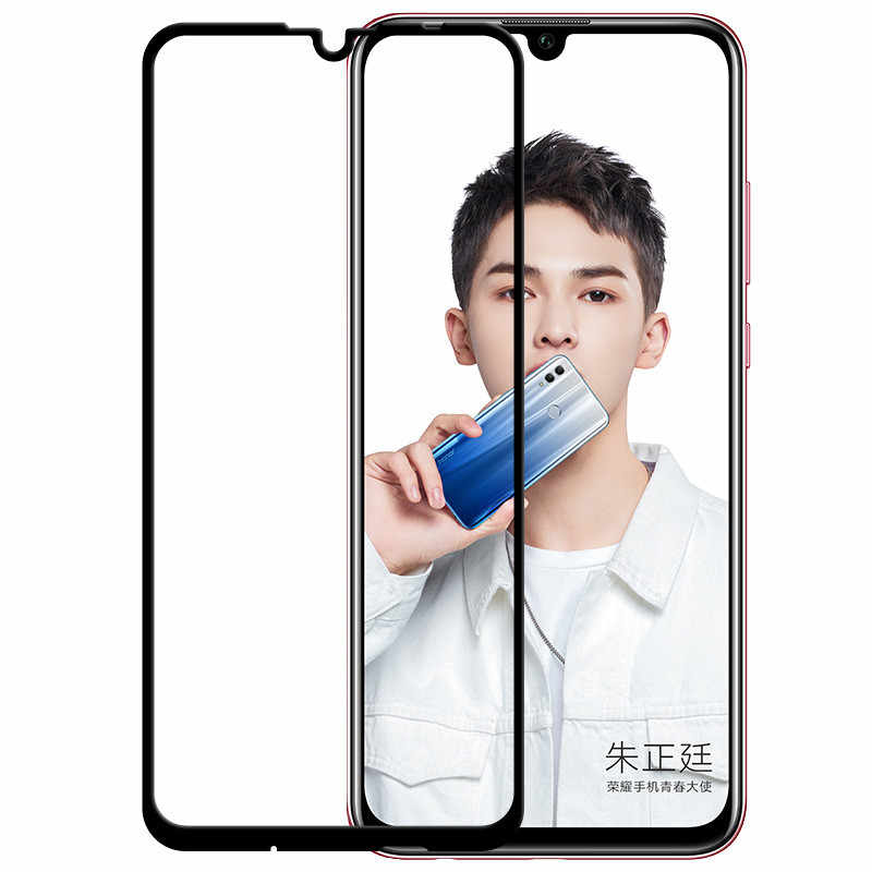 9D Penuh Penutup Pelindung Anti Gores untuk Huawei Kehormatan 10 20 Lite 10i 20i 20S 9X 8X 8A 8S Pelindung Layar Kaca Film V-kool