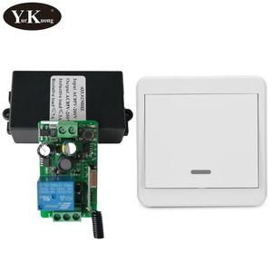Image 2 - 433 315 Remote Control Switch AC 110V 220V 240V 85V 260V Light Lamp LED Bulb Wireless Switches Corridor Room Wall Panel Switch