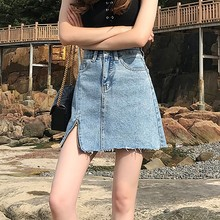 2019 High Waist Pencil Silhouette Women's Casual Irregular Denim Skirt Zipper Jeans Above Knee Mini Sexy A-Line Pencil Skirts цена и фото