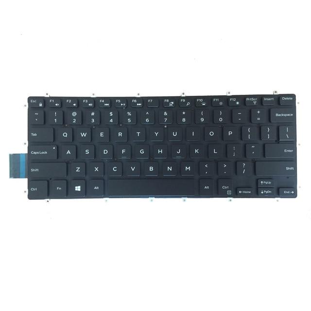 Usa czerwony/biały klawiatura do dell Inspiron 15 7560 7569 7579 7558 7568 czarny klawiatura laptopa z podświetleniem