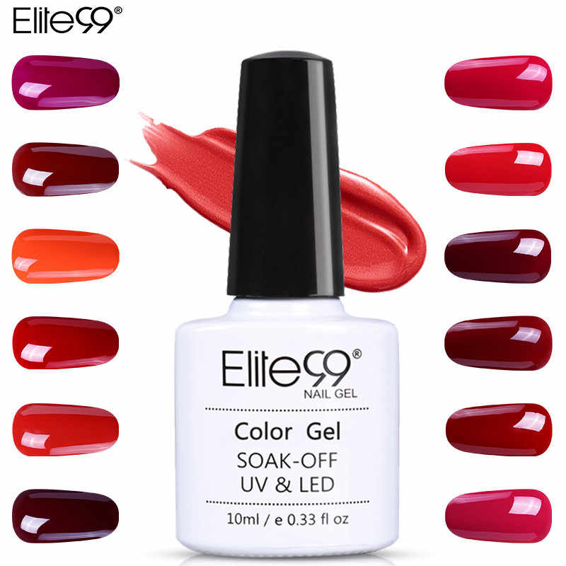 Elite99 Del Gel Del Chiodo 10ml Splendido Vino Rosso di Colore Del Chiodo Del Gel Smalto Vernis Semi Permanente Gel Lak Vernici Gel smalto