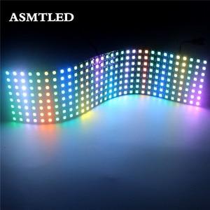 5V 5050 RGB Matrix led Pixel module light 8*8 16*16 8*32 Pixels WS2812B WS2812 Digital Flexible Panel Individually Addressable(China)