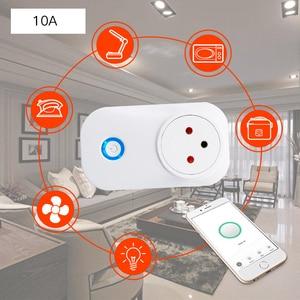Image 5 - Frankever tuya nuvem 10a 16a wifi inteligente tomada de energia israel monitor sem fio plug trabalho com alexa google casa inteligente doméstico