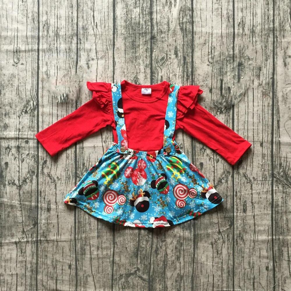 Special Offer Girlymax Christmas Fall/Winter Baby Girls Clothes Children Cotton Boutique Outfits Ruffles Pants Set Skirt 5