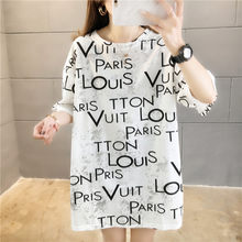 11 Styles M-2XL Oversized Print Letter Harajuku T Shirt Women Printting Tie Dye Floral T-shirts White Tops for Women Summer 2021