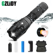 купить Led flashlight Ultra Bright torch T6/L2/V6 Camping light 5 switch Modes Waterproof Zoomable Bicycle Light  use 18650 battery по цене 285.93 рублей