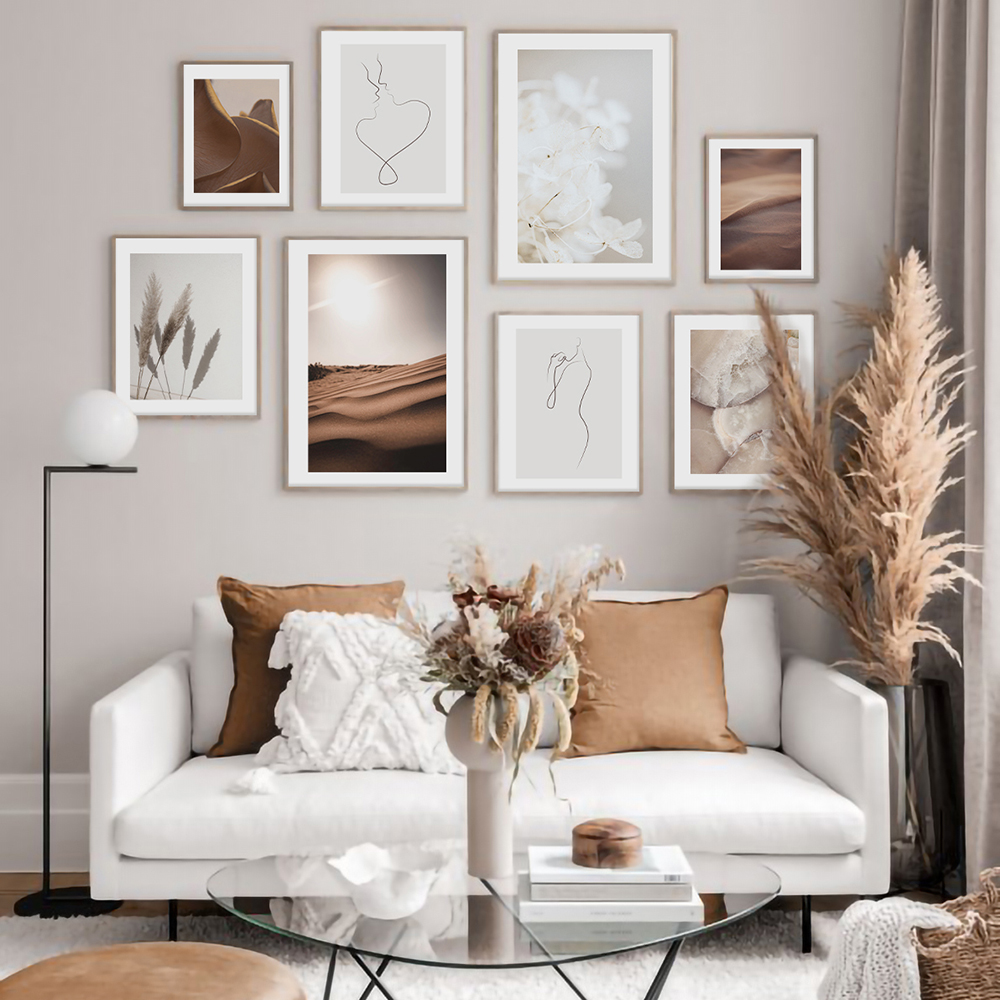 Female Line Canvas Poster Nordic Print Rose Petal Marble Texture Painting Flower Decoration Picture Modern Living Room Decor