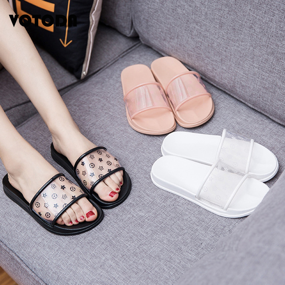 Transparent Slippers Women Summer Clear Slides Outdoor Flat Casual Comfortable Ladies Shoes Beach Sandals Home Indoor Flip Flops