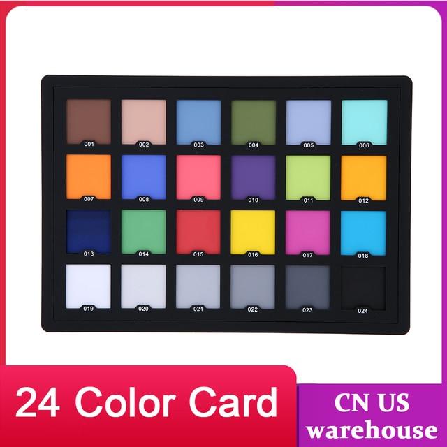 우수한 디지털 컬러 교정을위한 Andoer Professional 24 컬러 카드 테스트 밸런싱 체커 카드 팔레트 보드