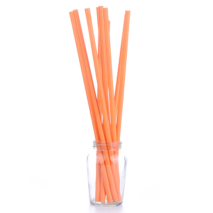 Manufacturers Direct Selling Customizable Paper Kraftpaper Straw Disposable Environmentally Friendly Creative Solid Color Paper