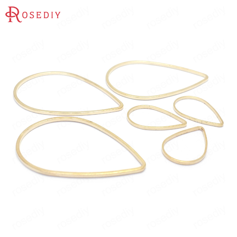 (25771)50PCS 7x10MM 8x12MM 11x16MM 17x25MM 21x30MM 27x38MM Brass Drop Closed Rings Jump Rings Jewelry Findings Accessories