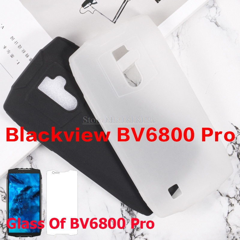 For Blackview BV6800 Pro Cover Soft Silicone TPU Back Cover With 9H Tempered Glass Film For Blackview <font><b>BV6800Pro</b></font> BV6800 Pro Case image