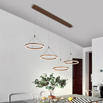 Modern led Coffee pendent  lamp for living room bedroom aluminum Creative design remote control home pendent light