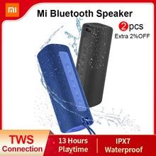 Xiaomi Mi-Altavoz Bluetooth portátil para exteriores, 16W, conexión TWS, sonido de alta calidad IPX7, impermeable, 13 horas de reproducción