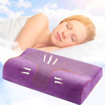 3 Colors Anti Snore Pillow Made Of Polyester Material For Neck Pain As Orthopedic Pillow
