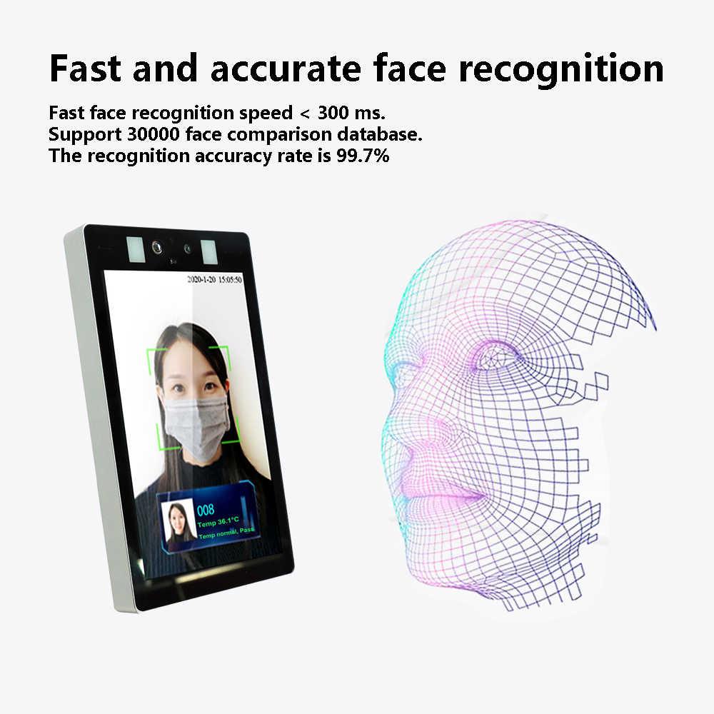 Термо-камера с распознаванием лица, детектор температуры тела, контроль доступа, Бесконтактный, тепловизор, тепловая камера с голосовым сигналом