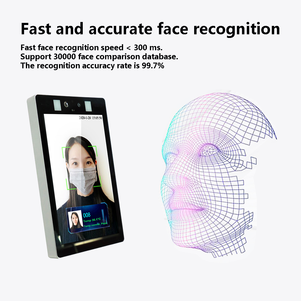 Image 2 - Face Recognition Thermo Camera Body Temperature Detector Access Control Non contact Fever Imager Thermal Camera with Voice AlarmSurveillance Cameras   -