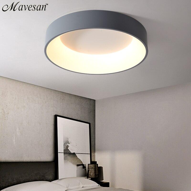مصابيح سقف ليد حديث مستدير لغرفة المعيشة غرفة نوم غرفة الدراسة عكس الضوء + تركيبات مصباح السقف RC