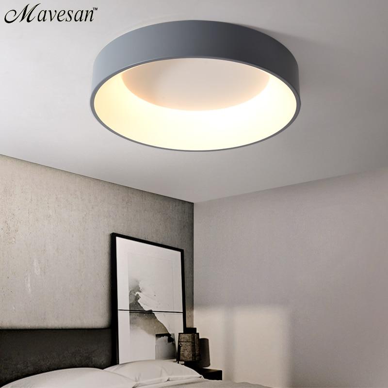 Lumières de plafond moderne à LEDs rondes pour salon chambre salle d'étude Dimmable + luminaires de plafond RC