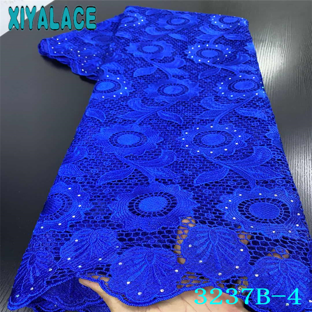 African Cord Fabric 2020 High Quality Lace Guipure Cord Laces Milksilk Lace With Stones For Women Clothes KS3237B