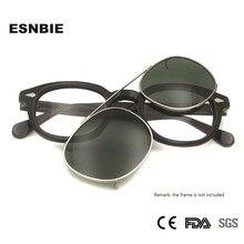 รอบแว่นตากันแดด Polarized Sun แว่นตาผู้หญิง Johnny Depp สไตล์ผู้ชายขับรถแว่นตารูปไข่ SNAP ON Clip On เลนส์ Uv400 Shade
