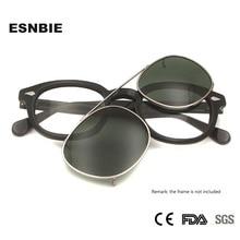 Runde Sonnenbrille Clip Auf Polarisierte Sonnenbrille Frauen Johhny Depp Stil Männer Fahren Gläser Oval Snap Auf Clip Auf objektiv Uv400 Schatten