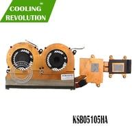 Novo para samsung np530u4e cpu dissipador de calor e ventilador de refrigeração BA62-00805A