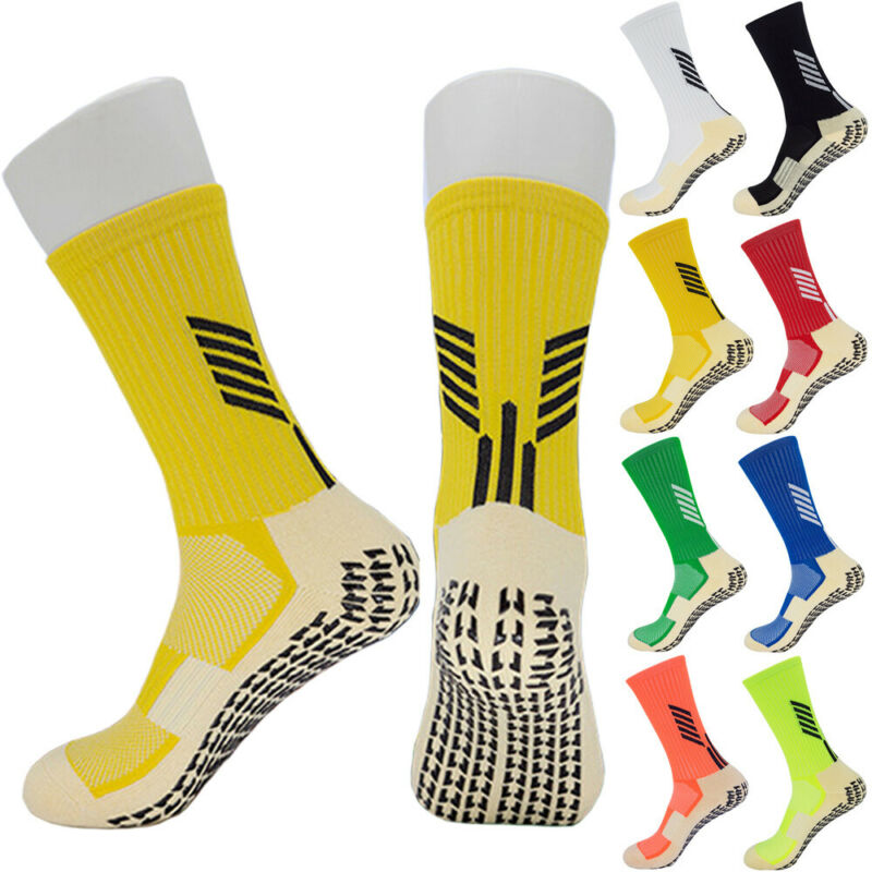 2020 Unisex New Anti Slip Football Non-Slip Sports Socks Soccer Athletic Sport Casual Non Skid Slipper Adults Medium Short Socks