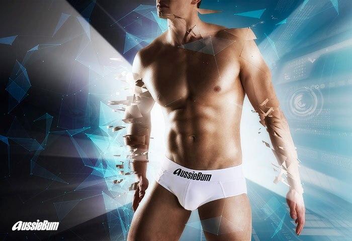 Men's briefs milk silk low waist elastic bag close-fitting comfort aussiebum 5