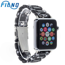 цена на Imitation Ceramic Strap Band for APPLE Watch 4/3/2/1 42mm/38mm Iwatch Bracelet Wrist Resin Belt Watch Accessories Watchband