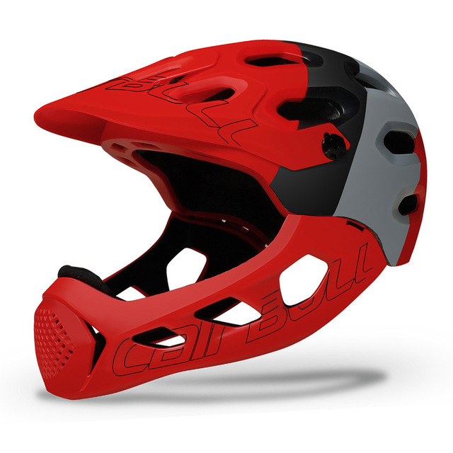 Ultraleve Capacete de Bicicleta de Montanha MTB Down Hill TRILHA BMX Capacete Full Face Coberta Inte-Moldado Capacetes de Ciclismo Capacete MTB 4