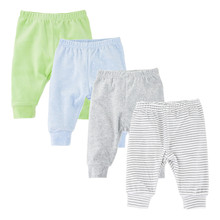 4PCS/LOT toddler baby leggings Solid striped 3-12M Newborn Baby Pants Spring Velvet Infant boys Pants Unisex Baby Girl Trousers