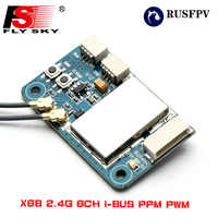 Flysky X6B 2.4G 6CH i-BUS PPM PWM Receiver for AFHDS i10 i6s i6 i6x i4x Transmitter Helicopter Airplane FPV Racing Drone