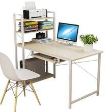 Простой компьютерный настольный стол домашний простой современный экономичный стол Книжный Шкаф комбинированный стол для спальни письменный стол