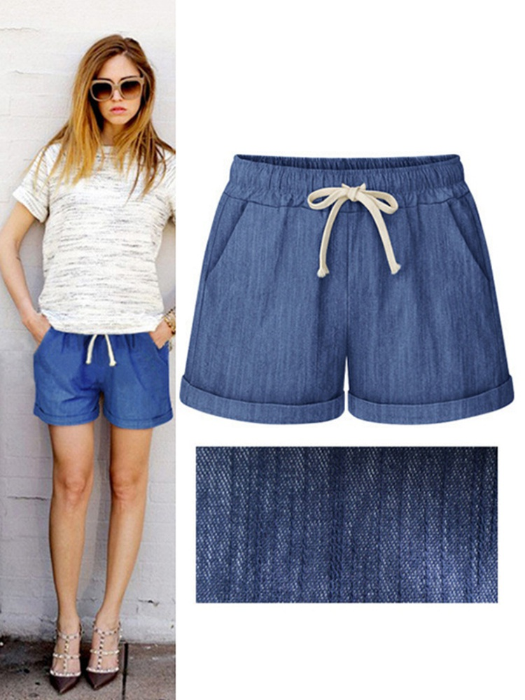 2019 Summer Women's Shorts New Style Fashion Design New Casual Shorts Loose Large Size A Word Hot Thin Shorts