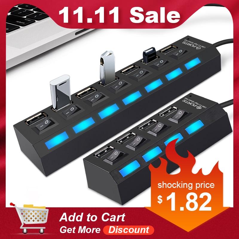 Micro USB Hub 2.0 Multi USB Port 4/7 Ports Hub USB High Spee