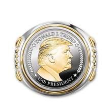 2020 moda U.s. Presidente trump anel de aço jóias dos eua. Presidente anel masculino acessórios