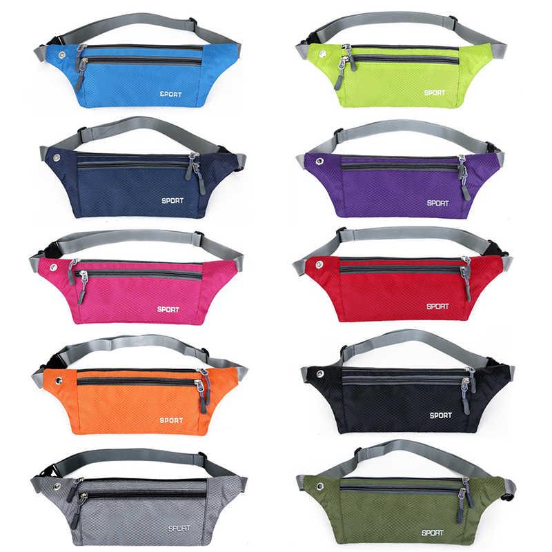 2019 ファニーパックスリムトラベルウエストバッグ女性のベルトバッグイヤホン穴調節可能なベルトポーチポケット財布ガールズボーイズメンズ