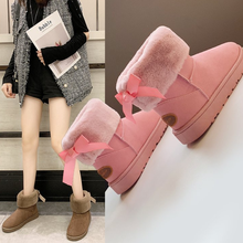 Fashion High Quality Women Slip-On Snow Boots Winter Fur Ankle Boots Winter Warm