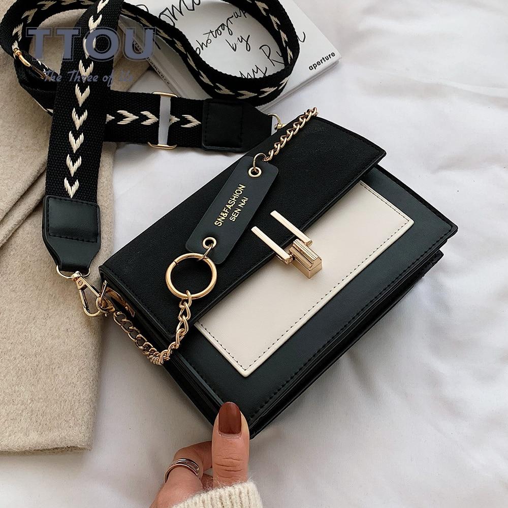 Contrast Color For Women 2020 Small Shoulder Messenger Bag Female Small Square Luxury Ladies Handbags And Purses Bolsa Feminina