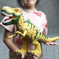 Elektrische interaktive spielzeug: reden und walking Dinosaurier. Licht Sound Tyrannosaurus Rex kinder spielzeug Elektrische spielzeug Original verpackung