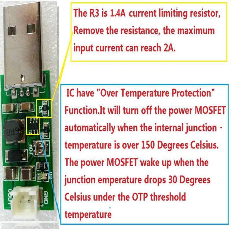 5x1 Mhz Mode de courant d'entraînement PWM convètre USB 3.7V 4.2V 5V à cc 6V 7V 8V 9V 10V 11V 12V 13V 14V 15V module d'alimentation de sortie