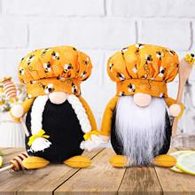 Salon dekoracja lalek strona główna ciepły dekoracyjny festiwal pszczół pszczoła krasnolud lalka bez twarzy stary człowiek kreatywna lalka dekoracja tanie tanio CN (pochodzenie) Tekstylia i tkaniny