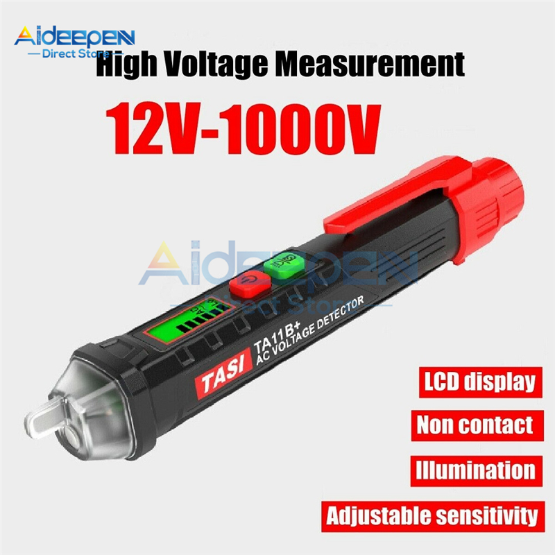 50Hz/60Hz 12V-1000V AC/DC Voltage Test Pencil LCD Digital Multi-function Non-Contact Induction Test Pencil Voltage Detector