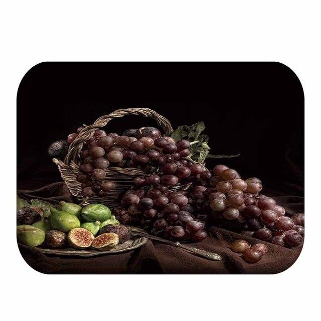 יפה פירות דפוס עיצוב קטיפה עבה רצפת מחצלת, בית חדר שינה דקורטיבי רצפת מחצלת, מטבח מחצלת, אמבטיה מחצלת 40x60cm ..