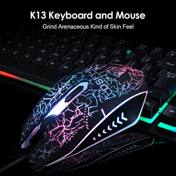 K13 Gaming keyboard Mouse Combo RGB Backlight Mechanical Felling keyboard Gamer kit Silent Gamer Mouse Set for PC Laptop 3