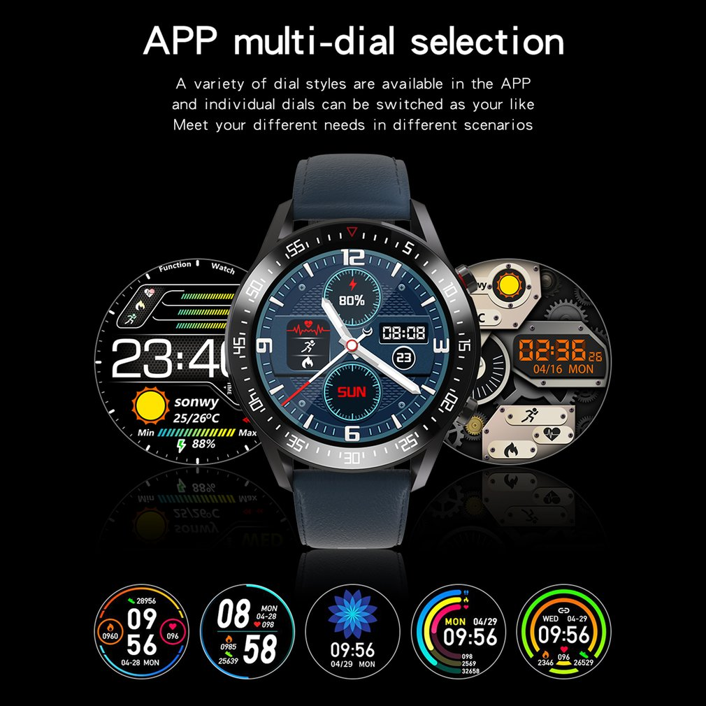 H4de99a3038de42eca7399adb373a3540i C2 Smart Watch Round Dial Men Smartwatch Full Touch Screen Heart Rate Monitoring IP68 Waterproof Fitness Sports Watch