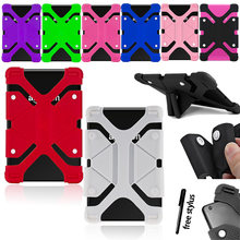 Universal silicone stand case cover for amazon fire hd10 5th/7th/9th