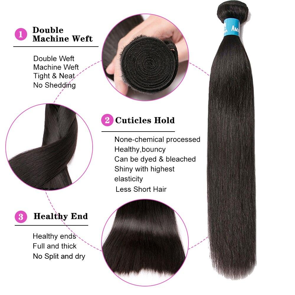 Amanda Straight Double Drawn   Bundles Natural Color  Virgin Hair Bundles  s 3